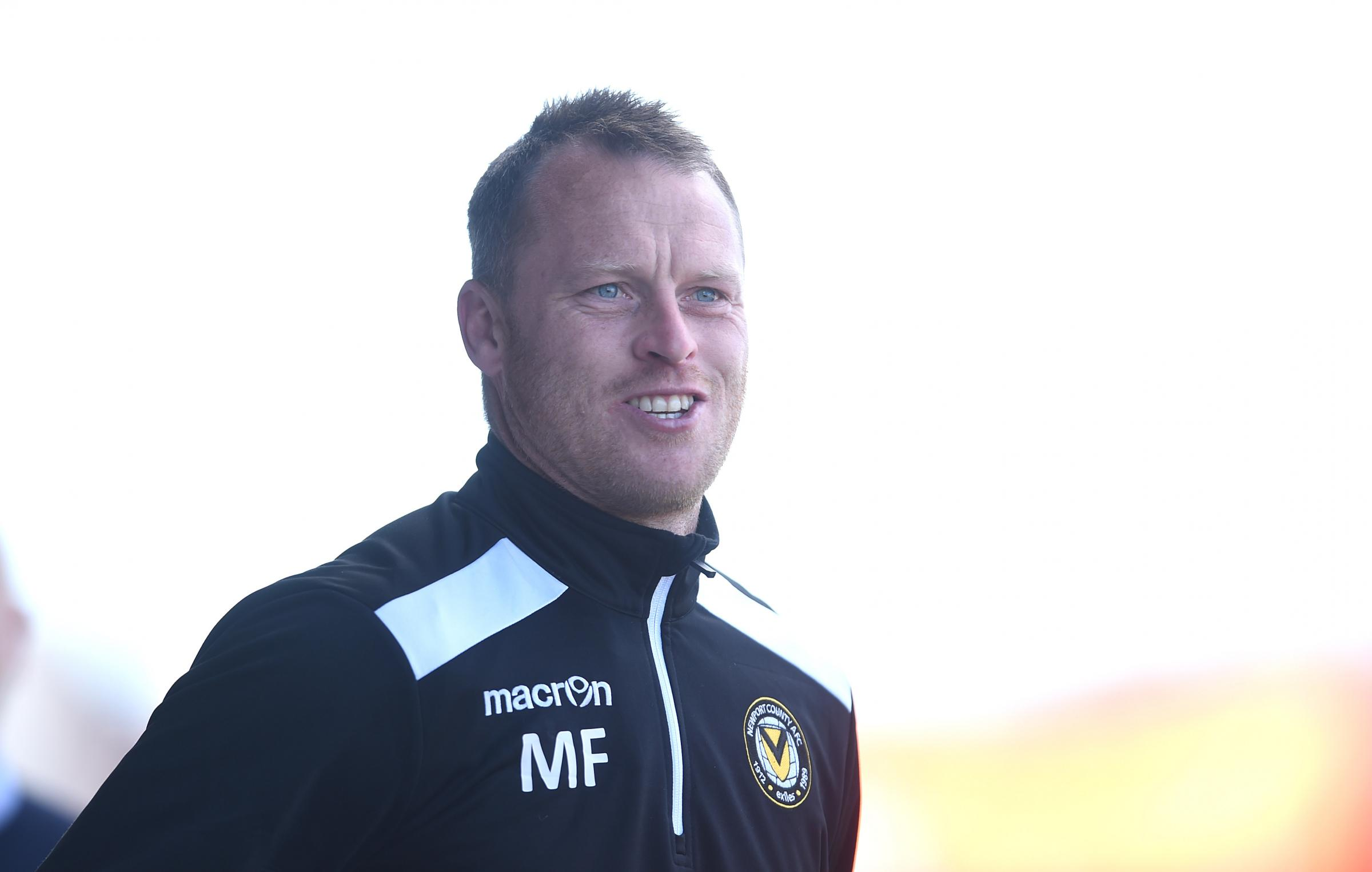 POSITIVE: Newport County manager Michael Flynn
