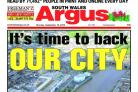 LAUNCH: The front page of the South Wales Argus on September 19, 2016, featuring the launch of the We're Backing Newport campaign.