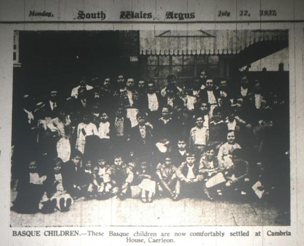 South Wales Argus: ARRIVAL: Basque child refugees arrive at Newport station in July 1937