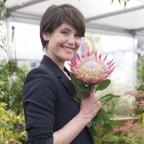 South Wales Argus: Gemma Arterton visits Chelsea Flower Show to prepare for new film role