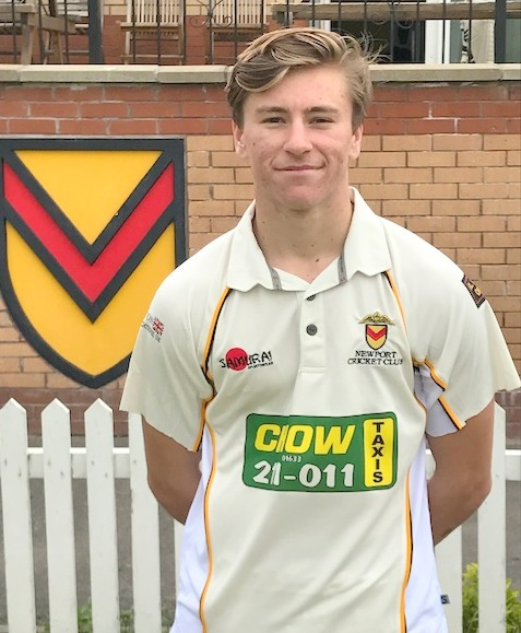 MAIDEN CENTURY: Callum Taylor smashed an unbeaten 115 for Newport last weekend
