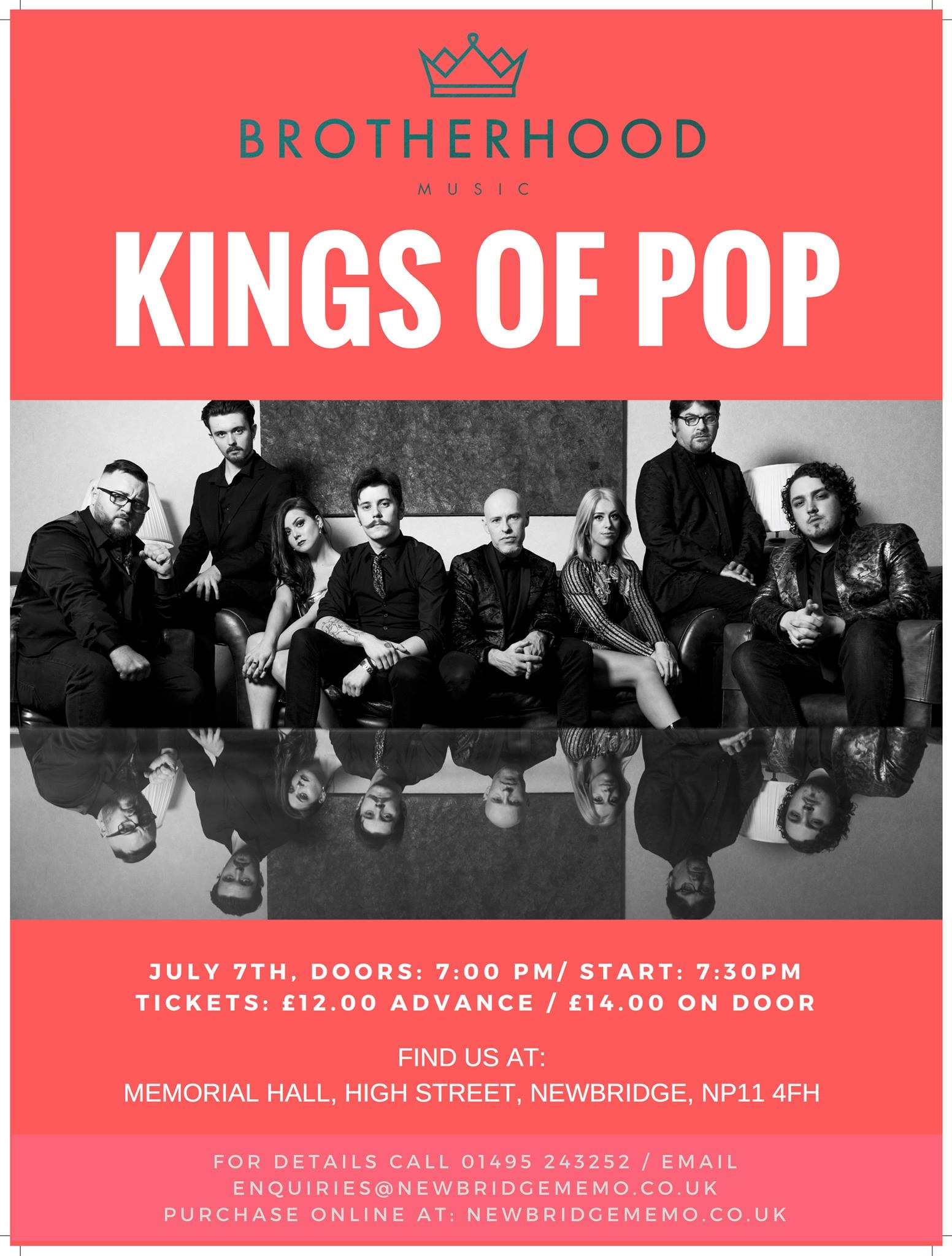 KINGS OF POP - An evening with The Brotherhood
