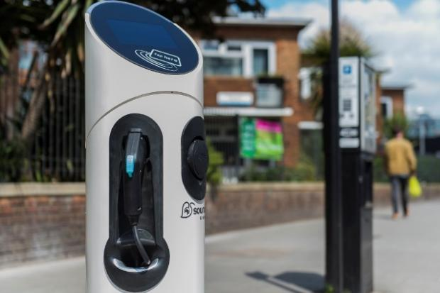 South Wales Argus: Electric charging point