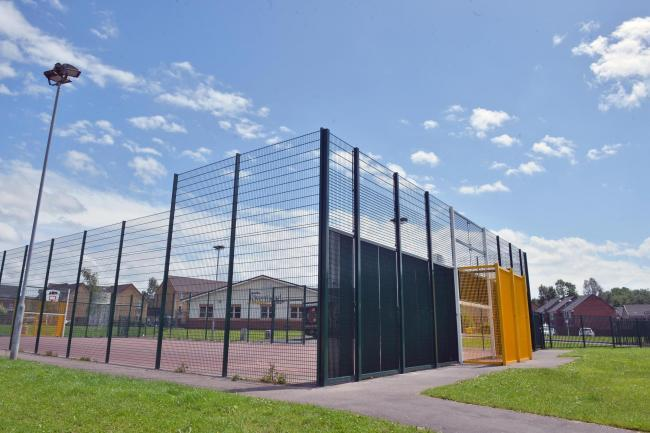 The MUGA next to the Rivermead Centre in Afon Village, Rogerstone.