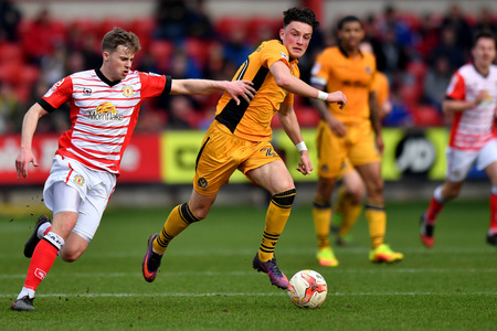 LOAN: Newport County midfielder Tom Owen-Evans has joined Truro City until the end of the season