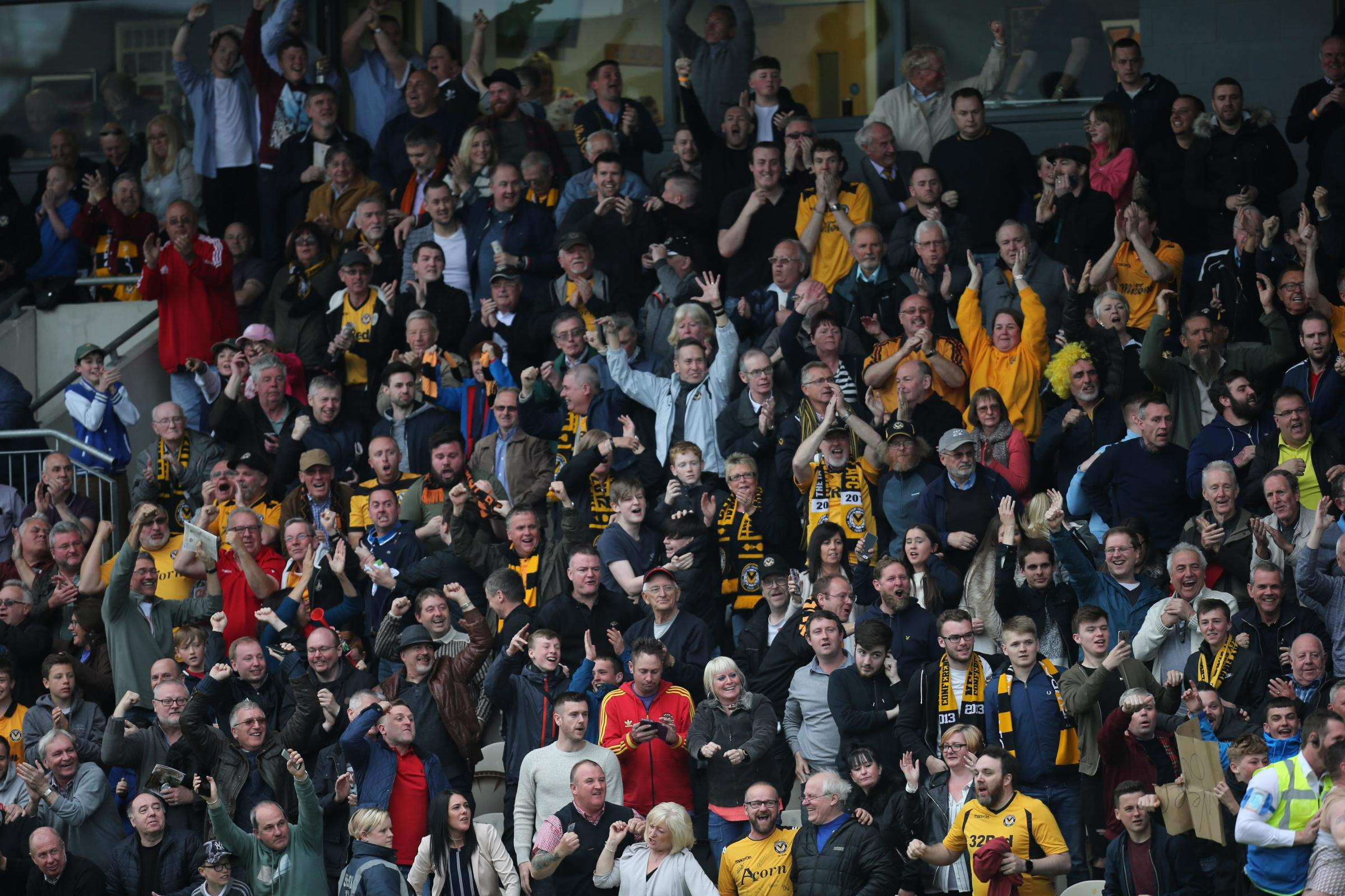 OWNERS: Newport County AFC fans at Rodney Parade