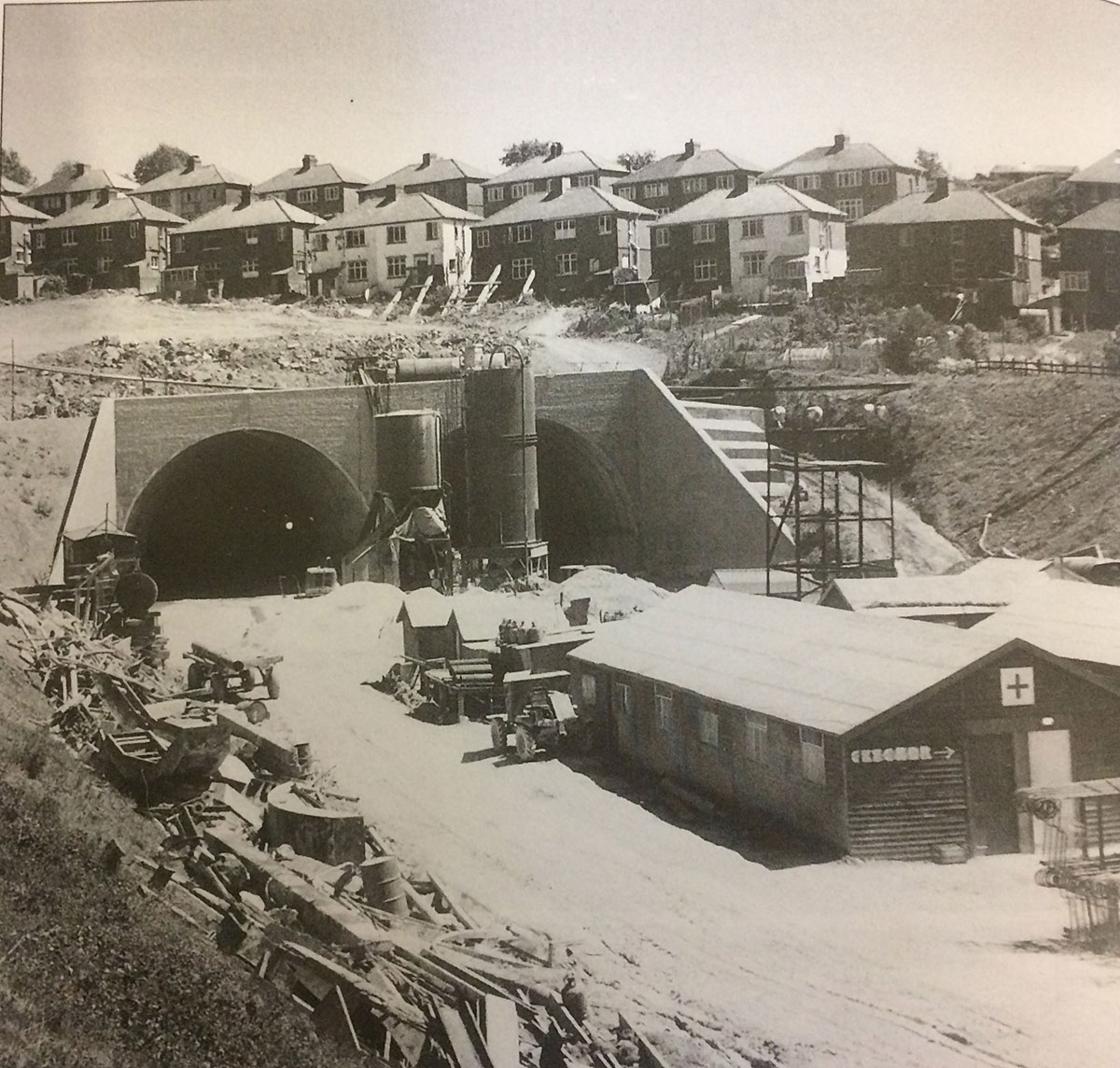 NOW AND THEN: Brynglas Tunnels, Newport