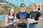 SUCCESS: 2017 A-level students at Caerleon Comprehensive School: Lowri Adams, Dan Gunter and Holly Hayes. Picture: christinsleyphotography.co.uk