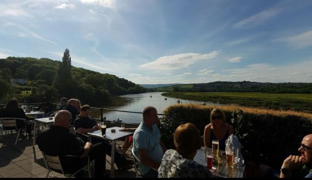 South Wales Argus: The beer garden at the St Julians Inn