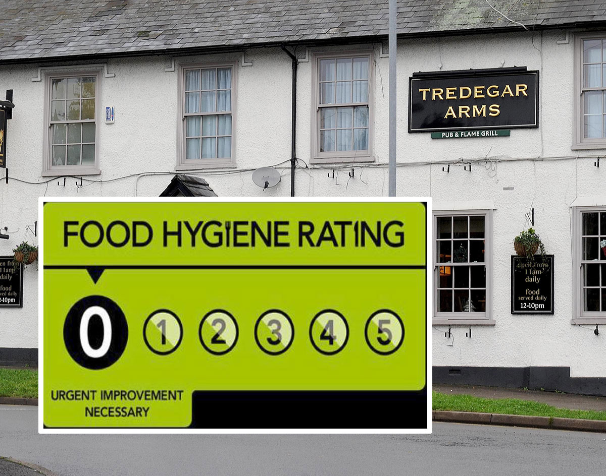 Newport Pub The Tredegar Arms In Bassaleg Gets Zero Food