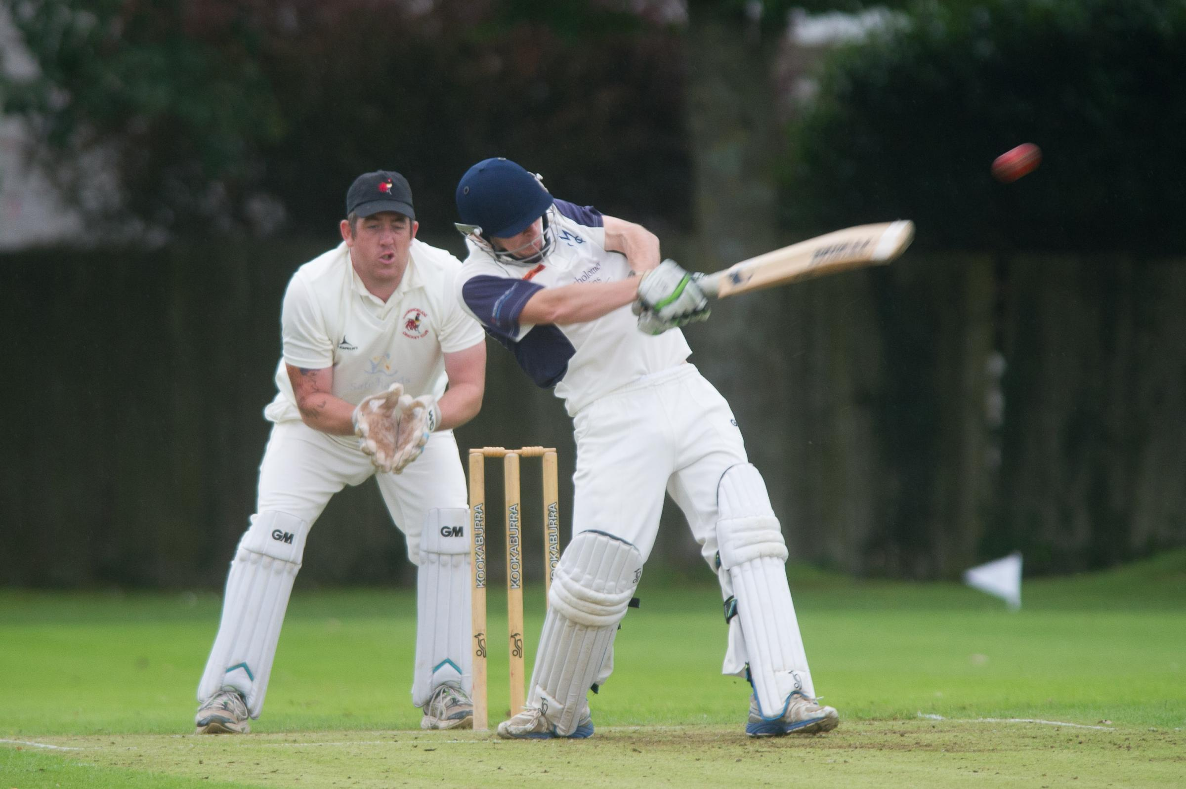 PROMOTION CHANCE: Malpas batsman Lewis Morgan in action earlier this season