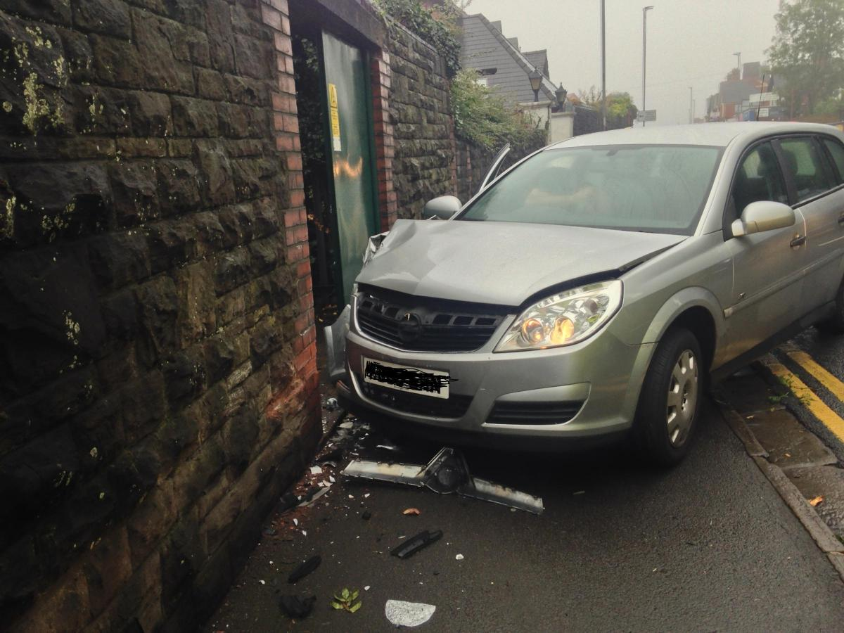 PICTURES and VIDEO: Man taken to hospital after car crashes into a ...