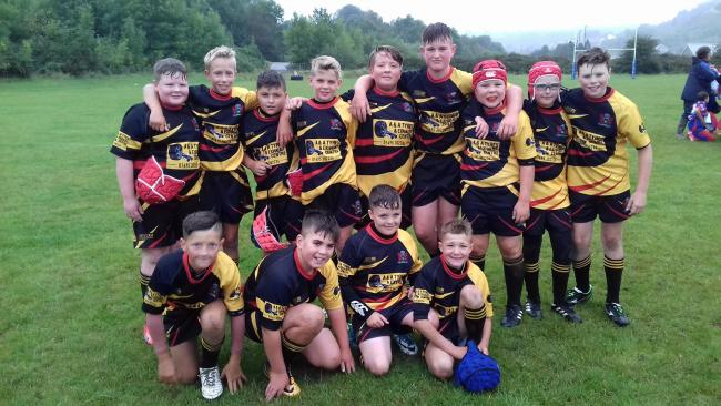 Forgeside U12s after their victory over Senghenydd