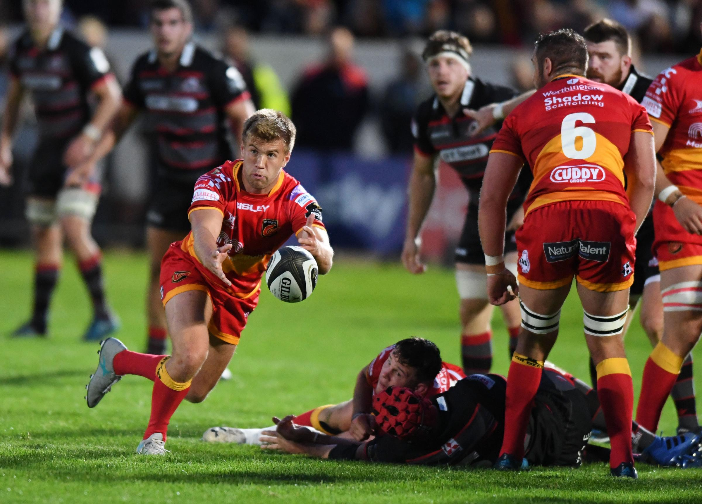 DRAGONS DEBUT: Teenage scrum-half Owain Leonard make his regional bow in Edinburgh