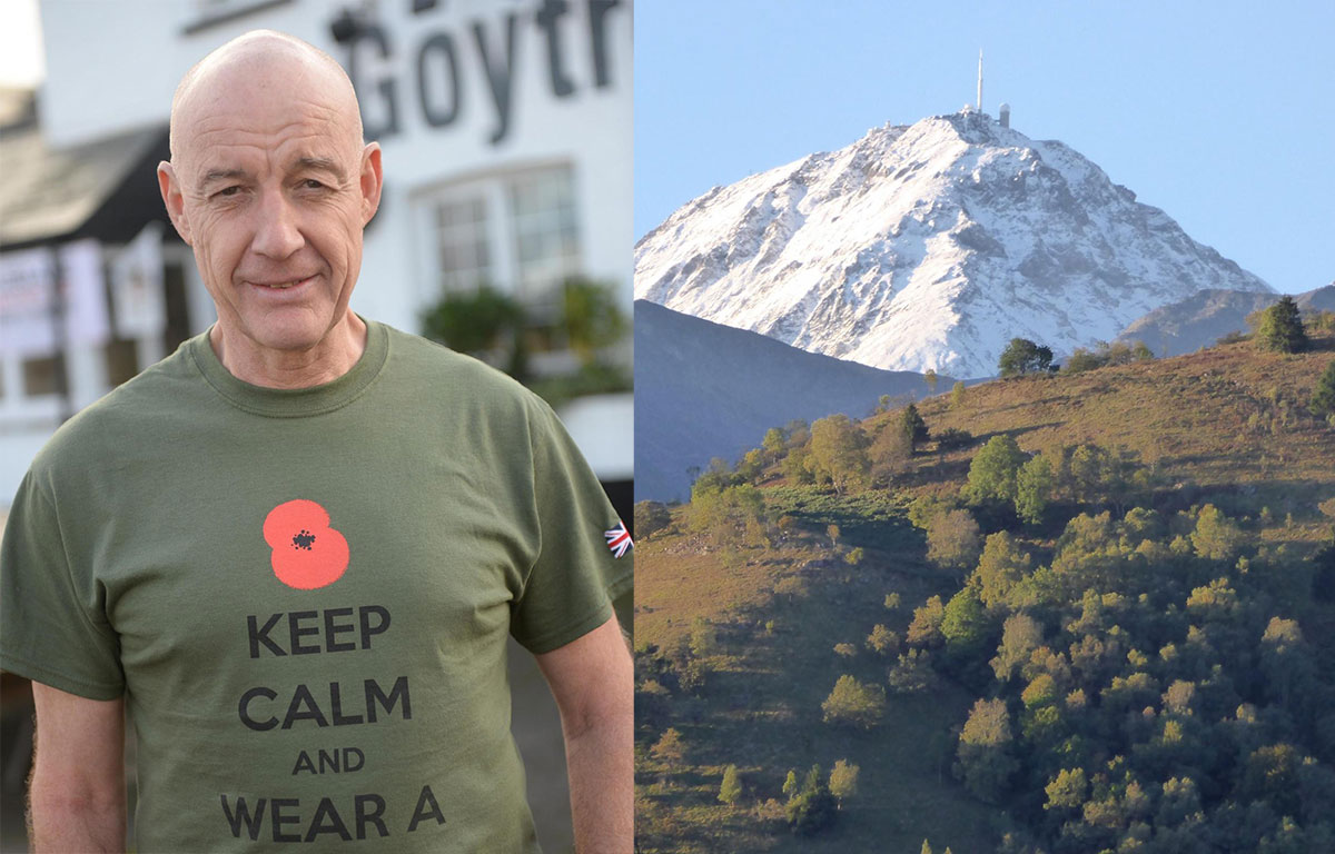 Goytre poppy appeal organiser Mike Jones is to re-trace a Second World War escape route across the Pyrenees