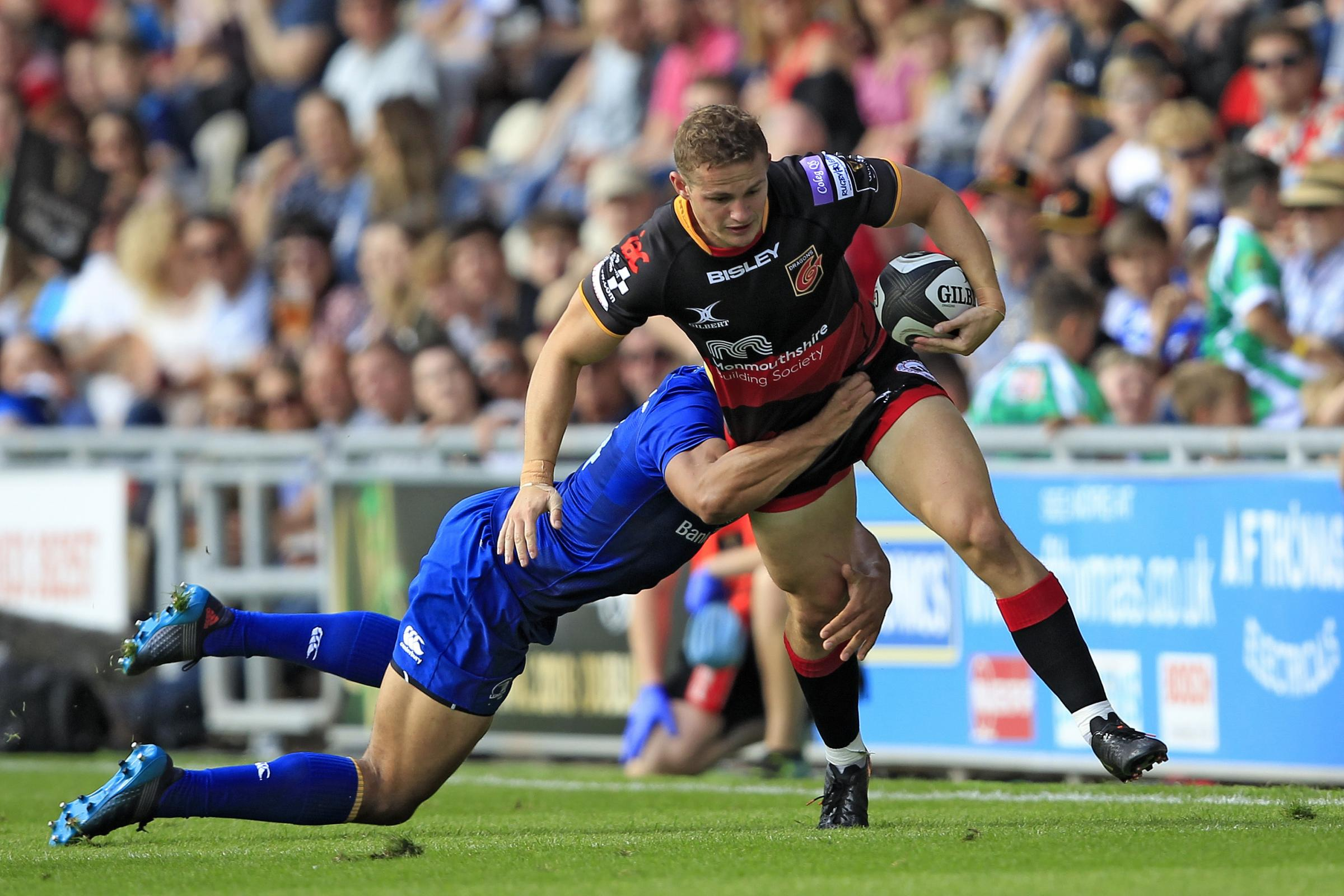 ON THE RUN: Hallam Amos wants the Dragons to apply a finishing touch