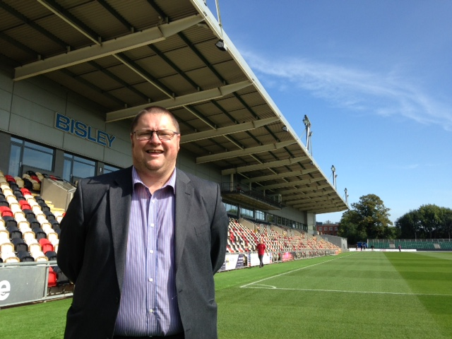 HOME: Newport County operational chairman Gavin Foxall at Rodney Parade