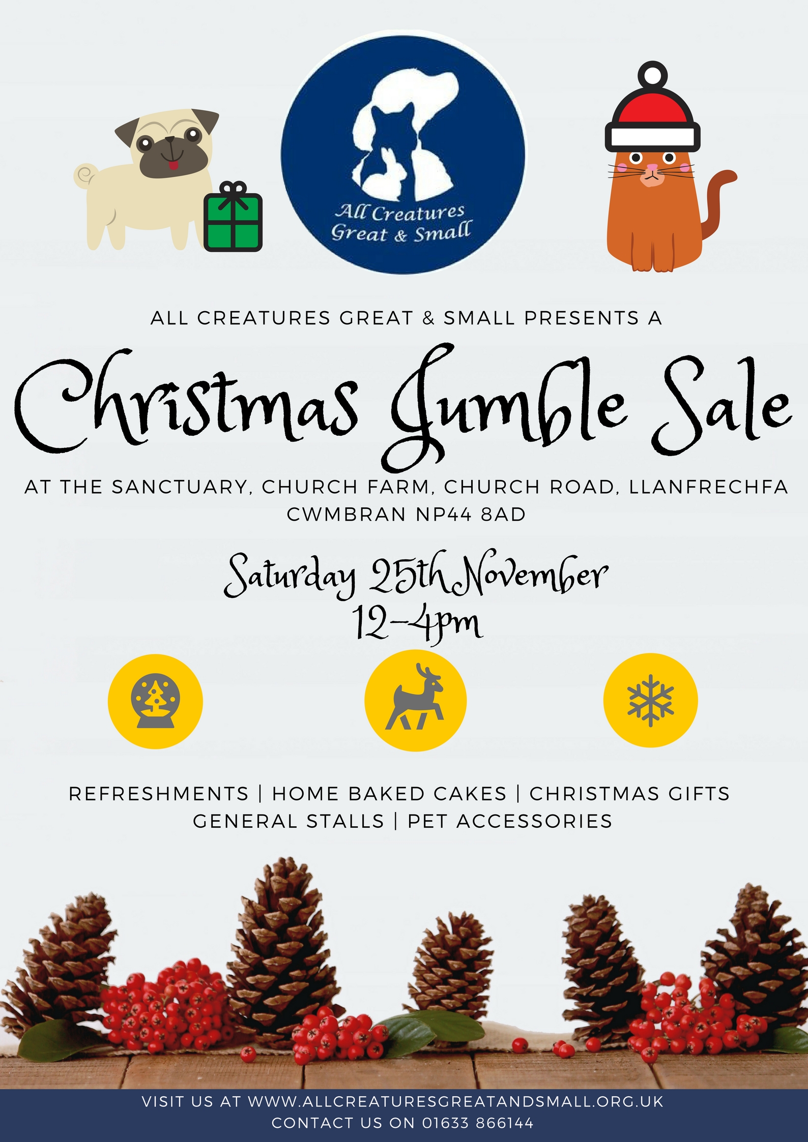 All Creatures Great & Small Christmas Jumble Sale
