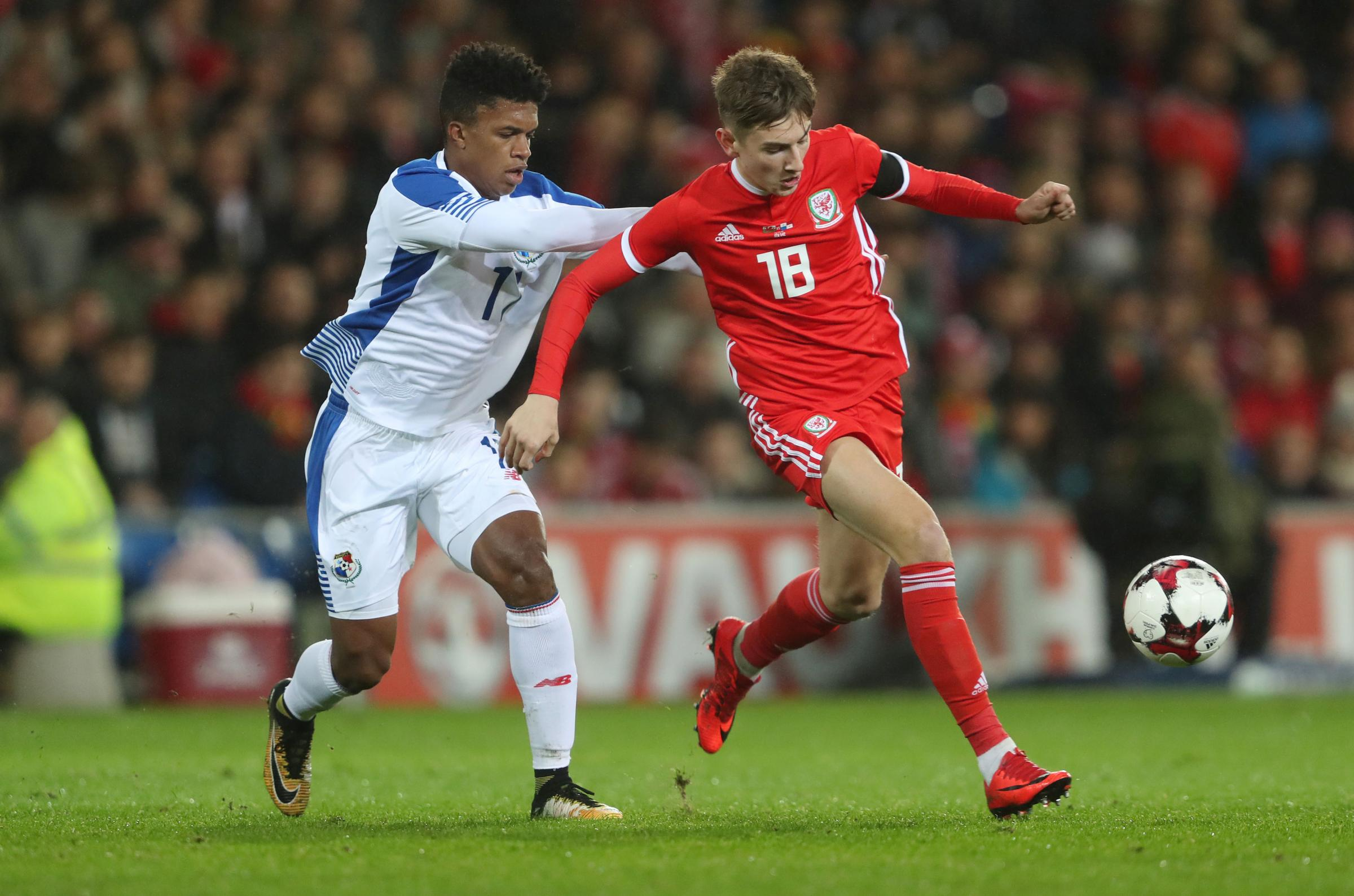 STAR MAN: Wales youngster David Brooks in action against Panama