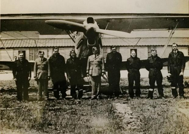 South Wales Argus: EARLY DAYS: Men of 614 Squadron with a Hawker Hector at RAF Pengam Moors in 1937