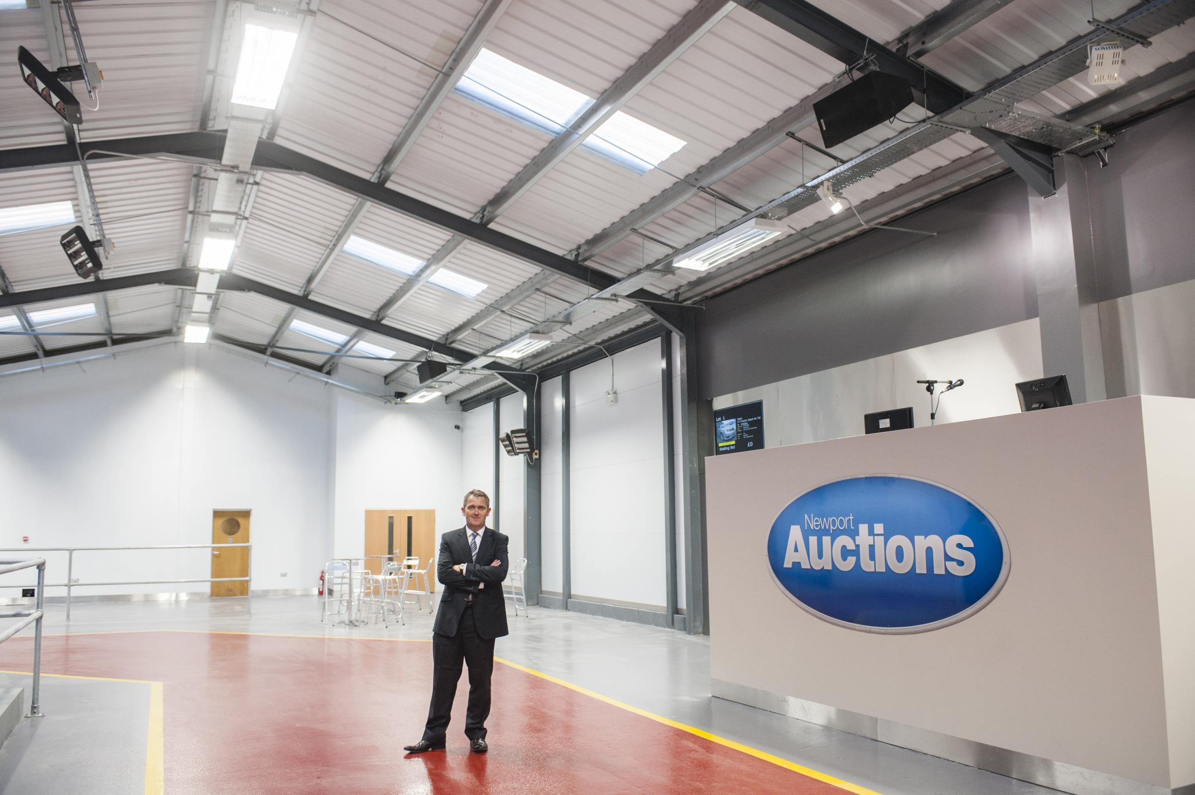 Jon Collingbourne, managing director of Newport Auctions, who is hanging up his gavel after almost 30 years after selling the business to Wilsons Auctions