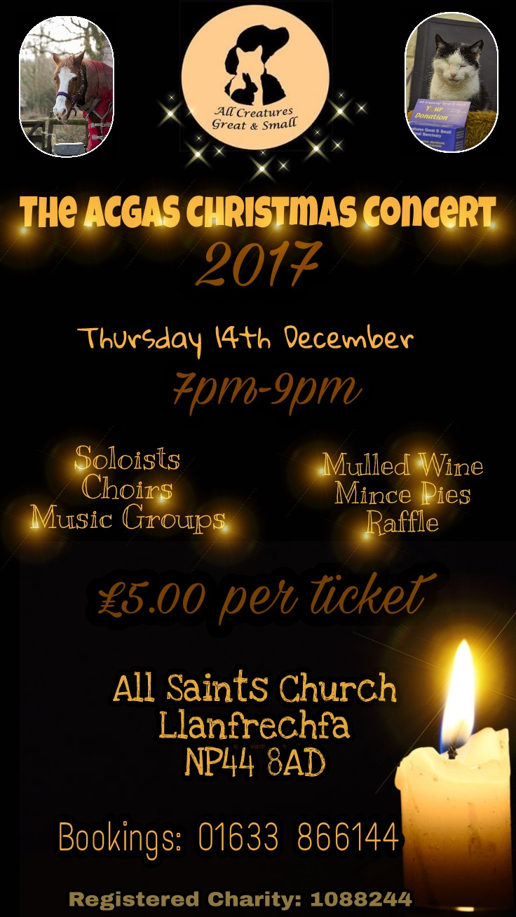 All Creatures Great & Small Presents The ACGAS Christmas Concert 2017