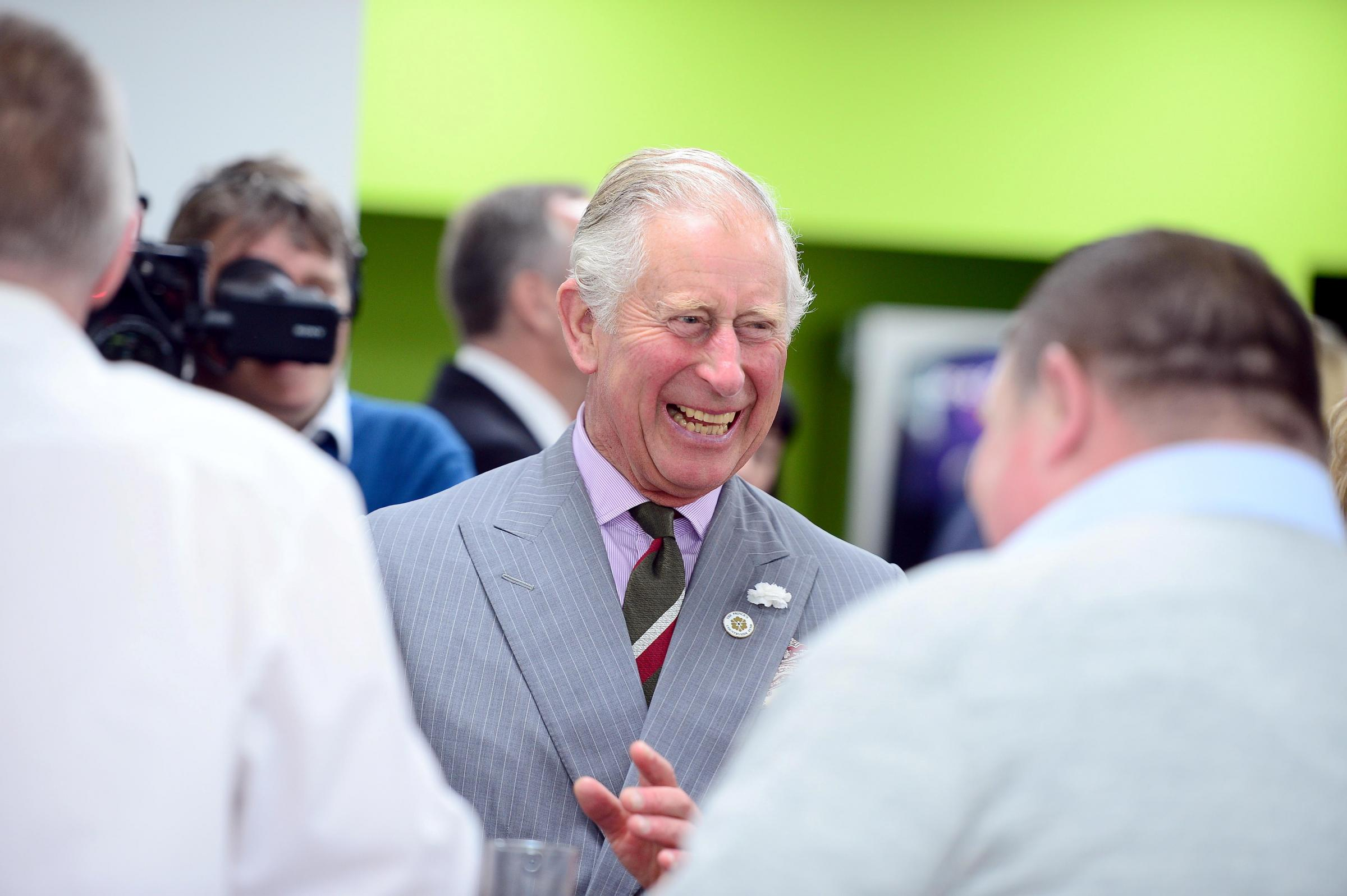 Prince Charles at Abergavenny Fine Foods in Blaenavon.