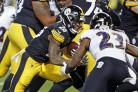 Pittsburgh Steelers running back Le'Veon Bell rushes for a touchdown (Keith Srakocic/AP)