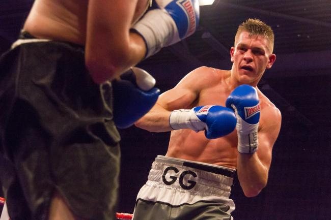 TITLE JOY: Gavin Gwynne is the new Welsh lightweight champion. Picture: www.liamhartery.com