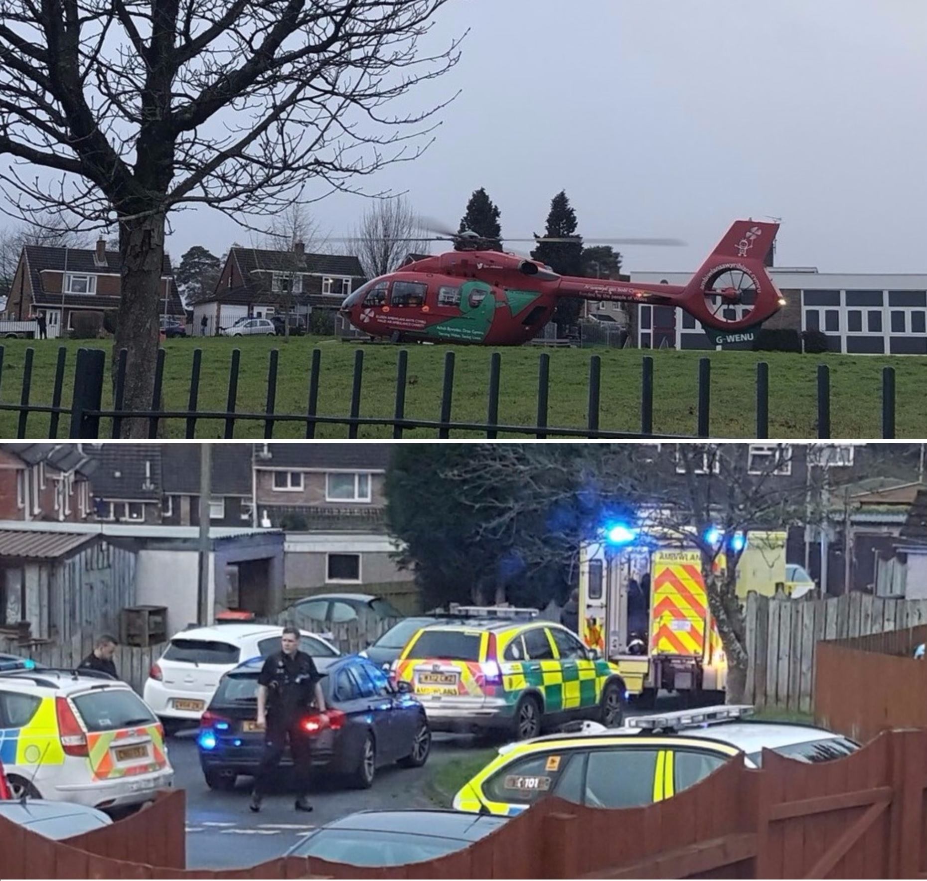 Death of boy confirmed after heavy police presence and air ambulance called to Newport street