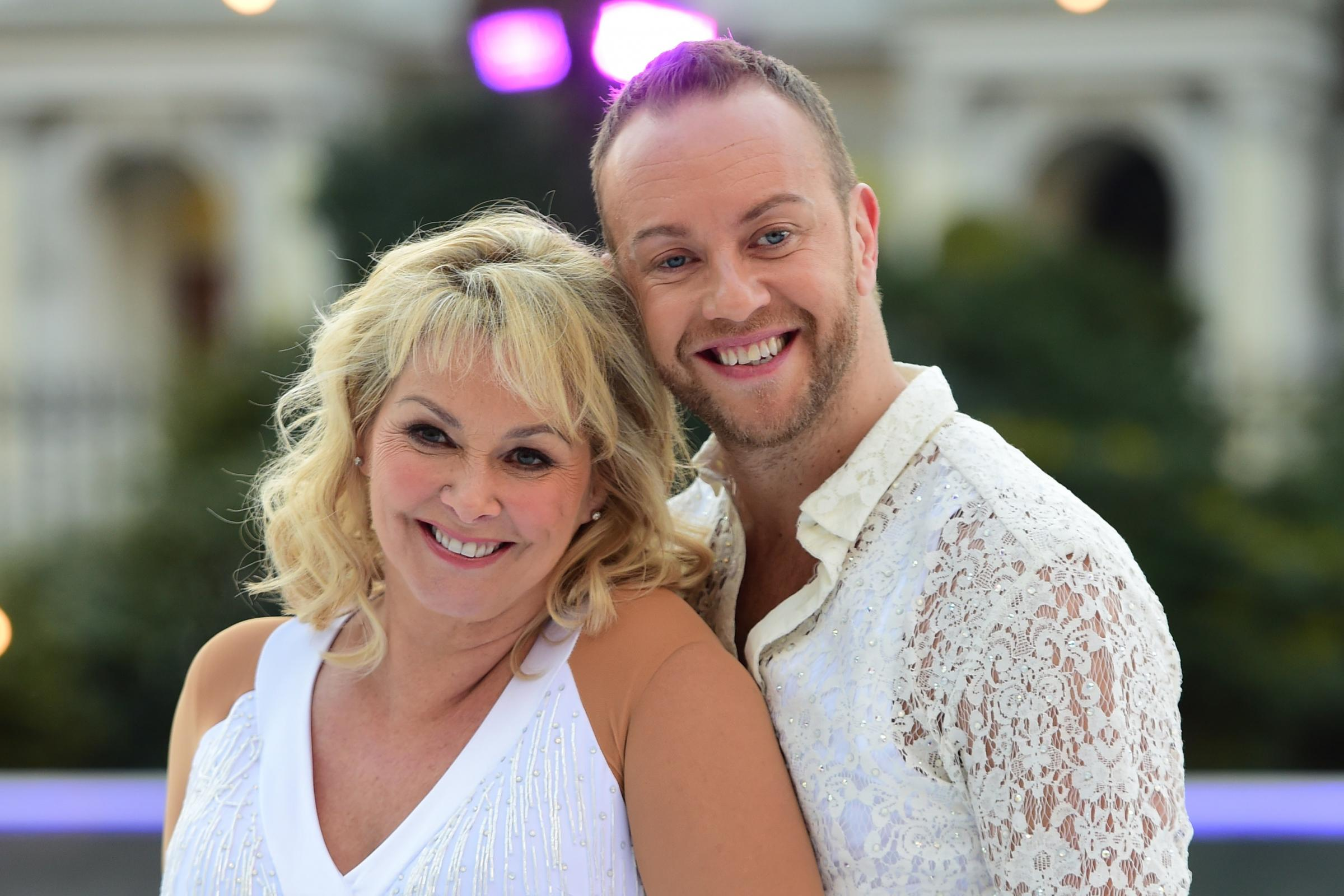 Cheryl Baker and Dan Whiston during the press launch for the upcoming series of Dancing On Ice (David Mirzoeff/PA)