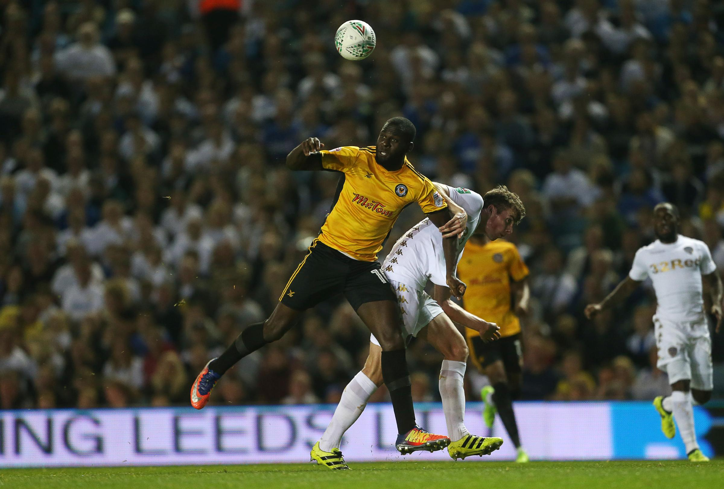 REMATCH: Newport County and Frank Nouble will take on Leeds United for a second time this season. Pictures: Huw Evans Agency