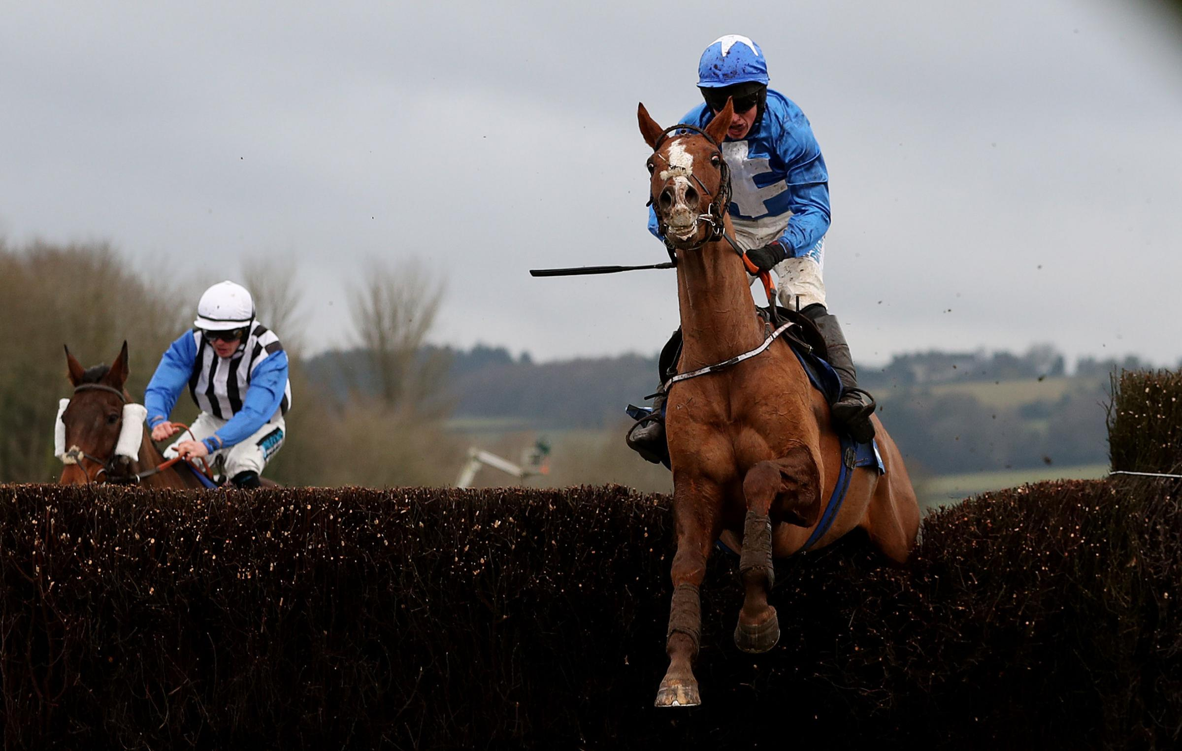 CHEPSTOW CHARGE: James Bowen guides Raz De Maree to victory at Chepstow. Picture: PA Wire