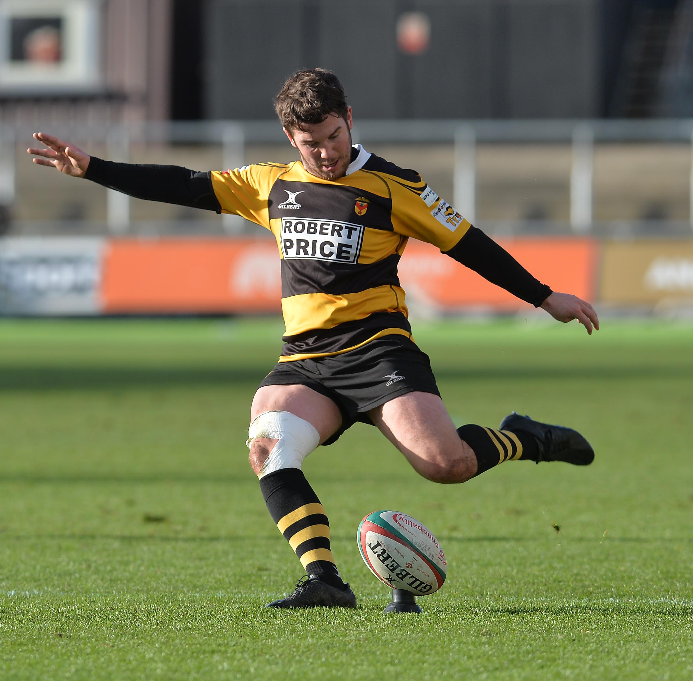 KEY KICKS: Matt O'Brien was on form with the boot at St Helen's. Picture from files