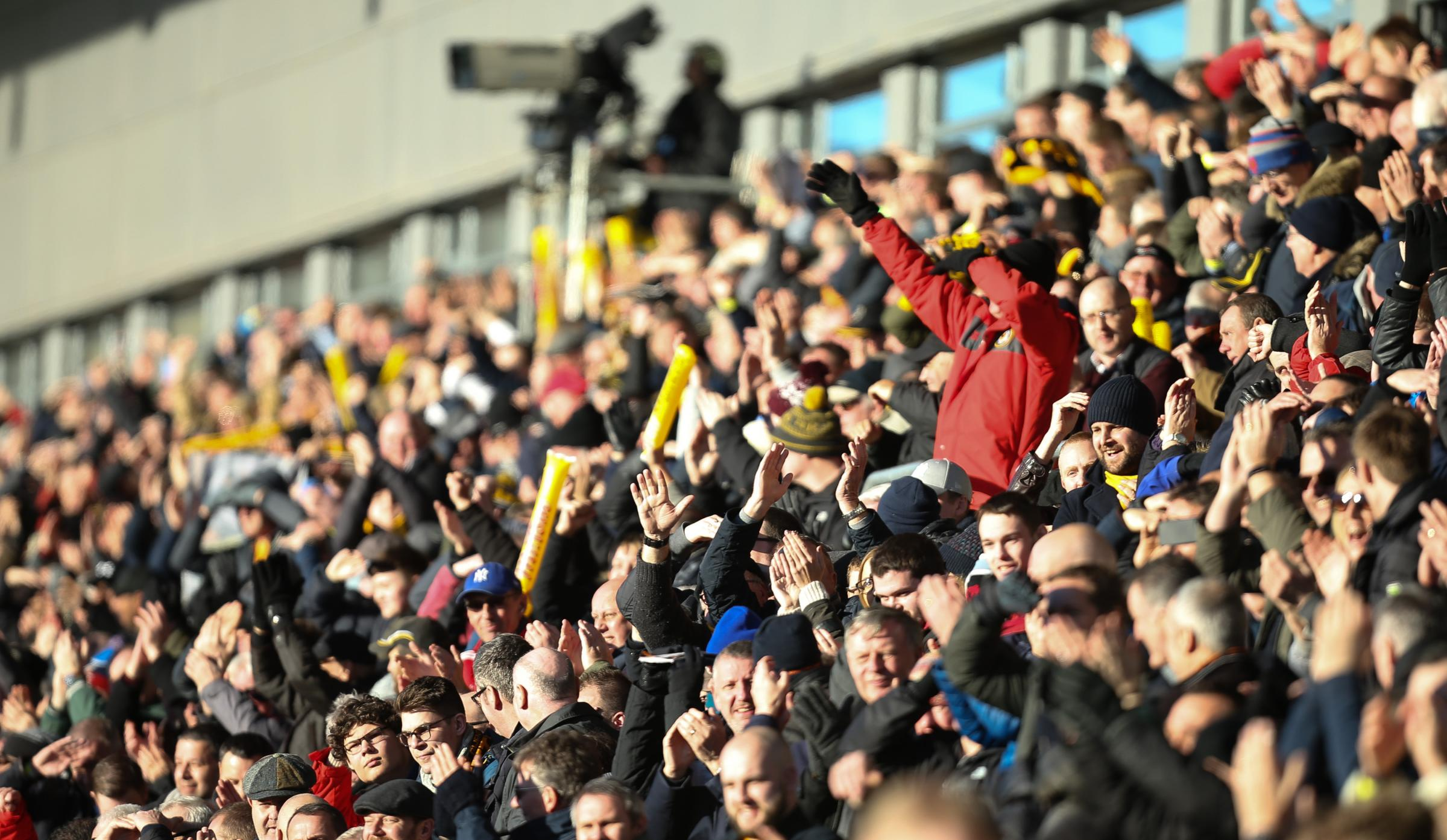 PACKED: A huge crowd cheered Newport County on to victory over Leeds United at Rodney Parade on Sunday. Pictures: Huw Evans Agency