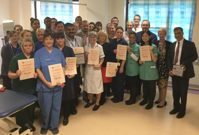 IMPROVING CARE: Stroke services staff were awarded an Aneurin  Bevan University Health Board chief executive's award last year, for their work in transforming services for patients.