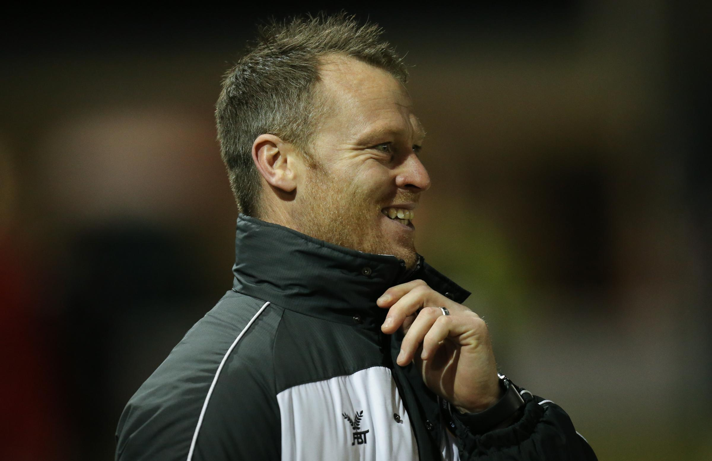 EXCITED: Newport County manager Michael Flynn can't wait to take on Spurs at Wembley tomorrow