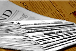 South Wales Argus: Newspaper Delivery Stack