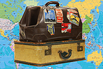 South Wales Argus: Suitcases with Map