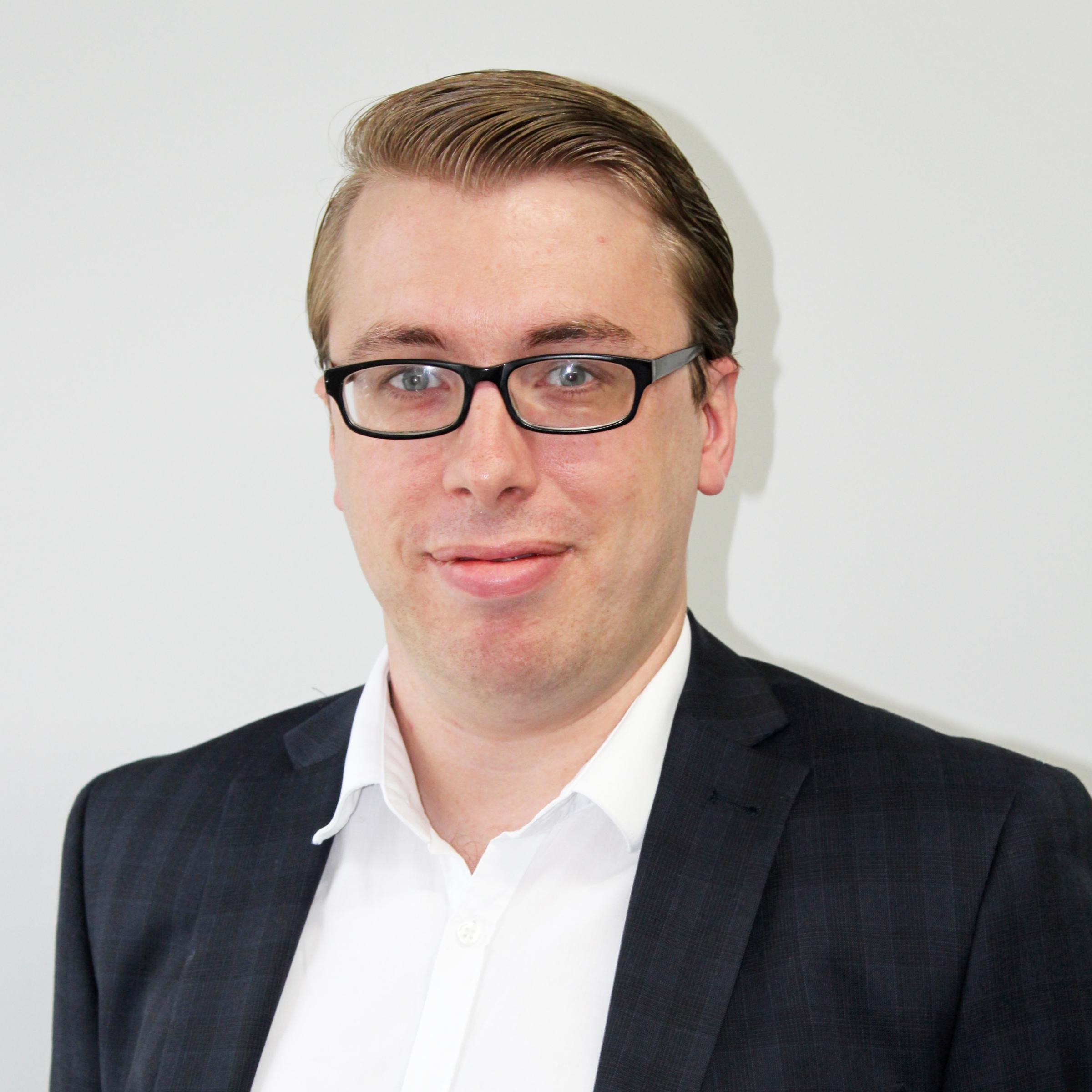 Luke Mccarthy-Reed, IT developer at Newport law firm Harding Evans Solicitors
