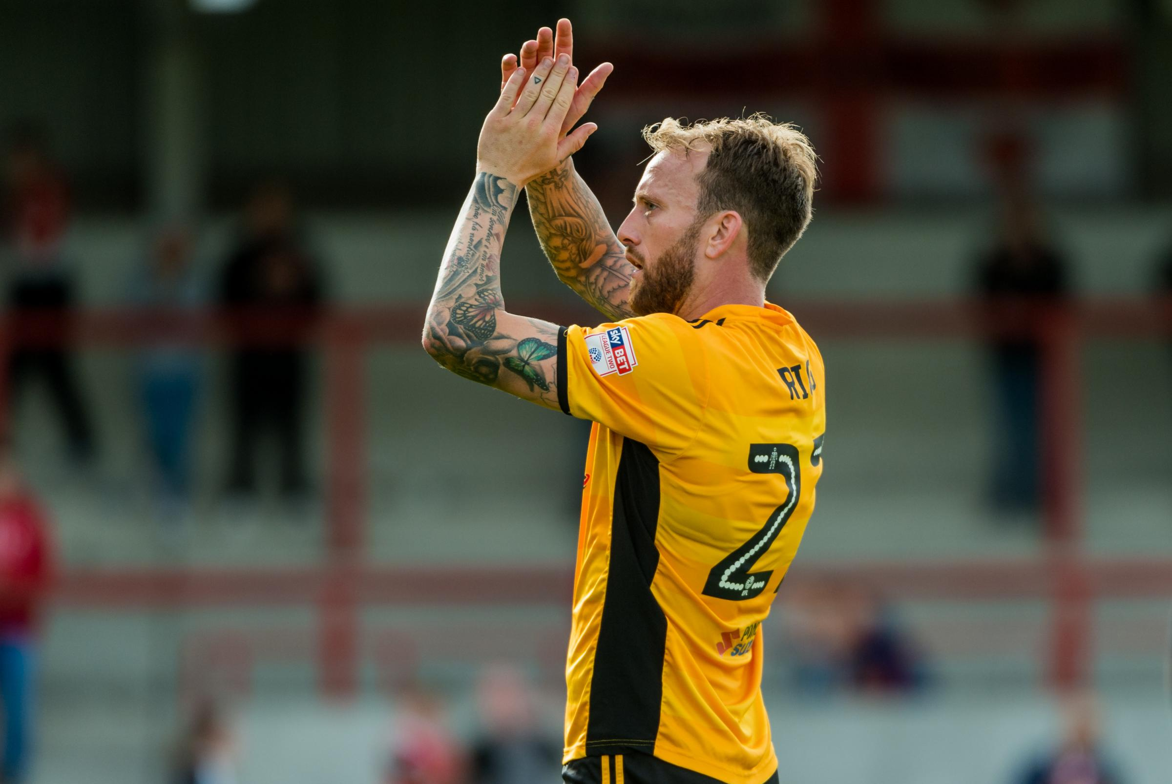 FAREWELL: Sean Rigg wants to become a tattoo artist after leaving Newport County for Bath City
