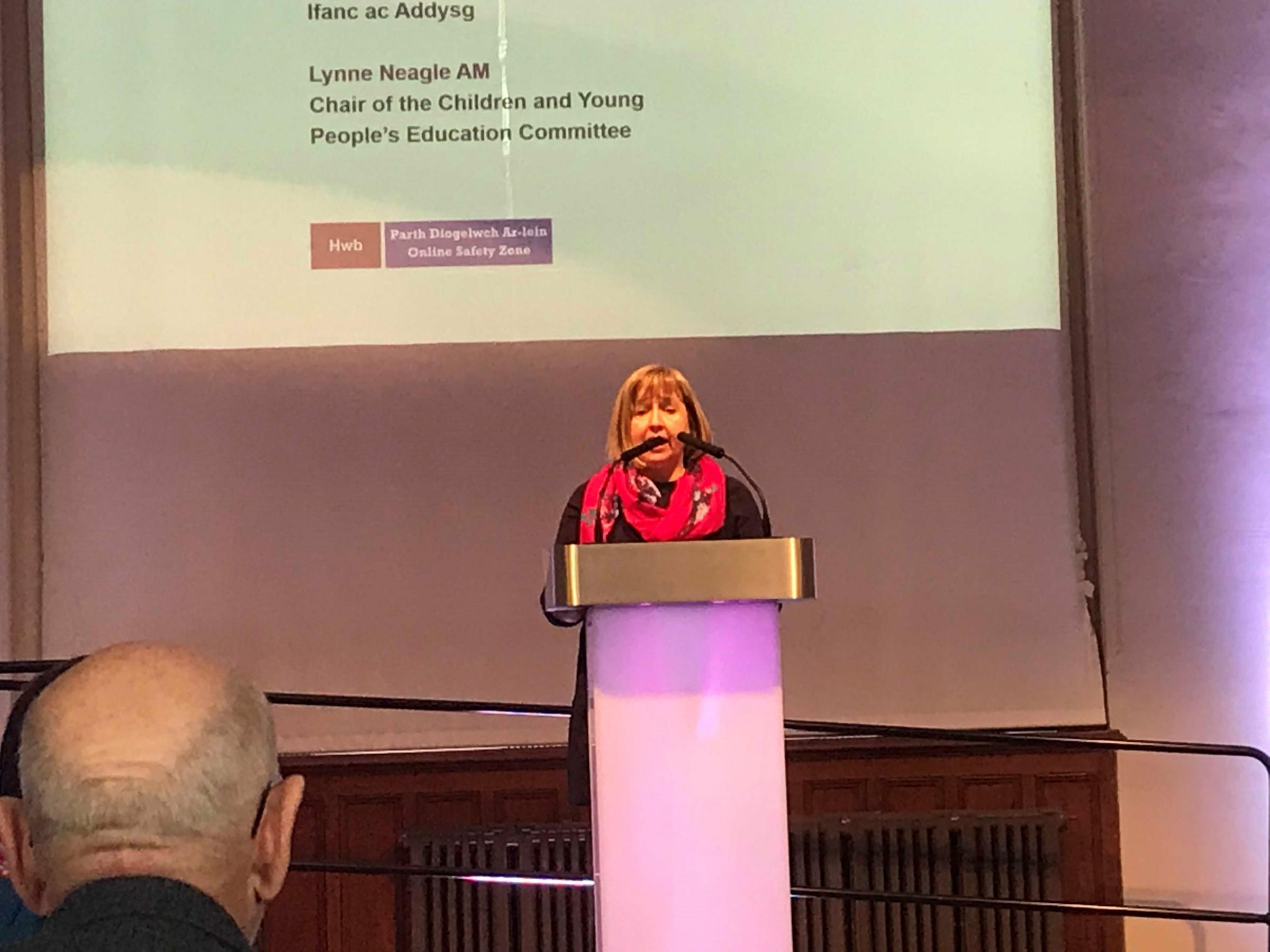 AWARE: Lynne Neagle AM opening Safer Internet Day 2018 – Creating a safer world online at the Pierhead, Cardiff Bay
