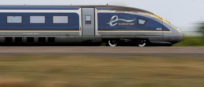 "File photo dated 10/08/17 of a Eurostar e320 train, as a new route from London to Amsterdam will be launched on April 4, marking a ""historic milestone"" in the expansion of international high-speed rail travel. PRESS ASSOCIATION Photo. Issue date"