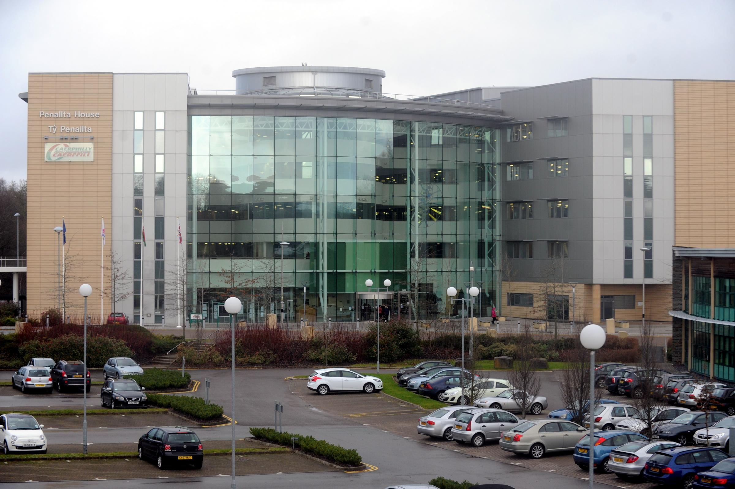 Argus-Mark   Reporter-Charles  17-12-12..Penallta House Caerphilly council offices Tredomen...
