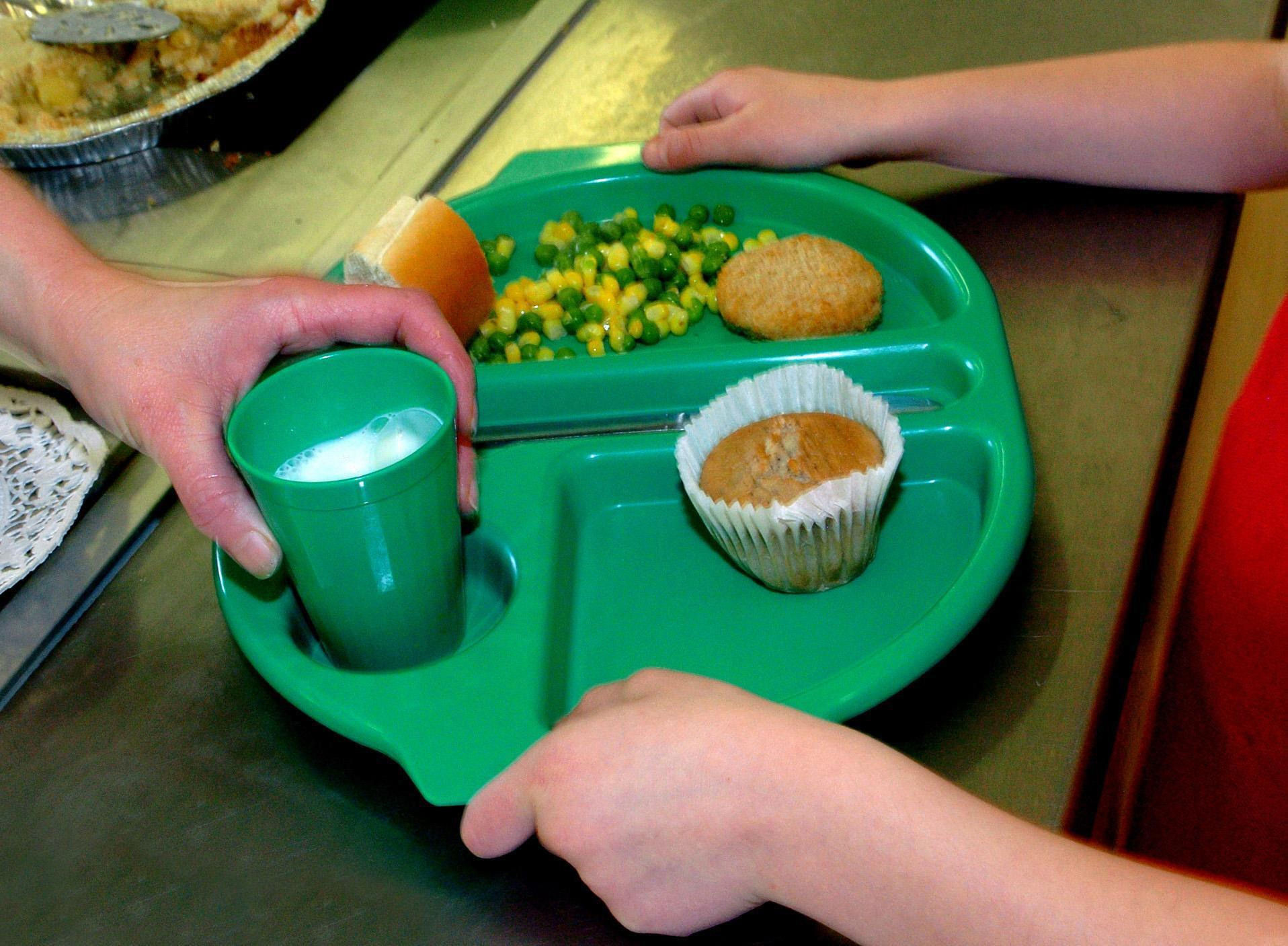 A school meal being served. Picture: Chris Radburn/PA Wire.