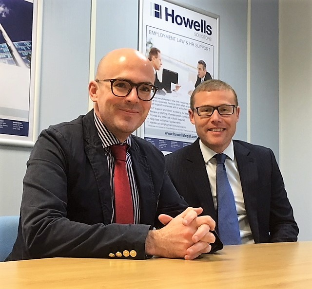 (l-r) Howells' new partner Paul Lindsey and Laith Khatib, director