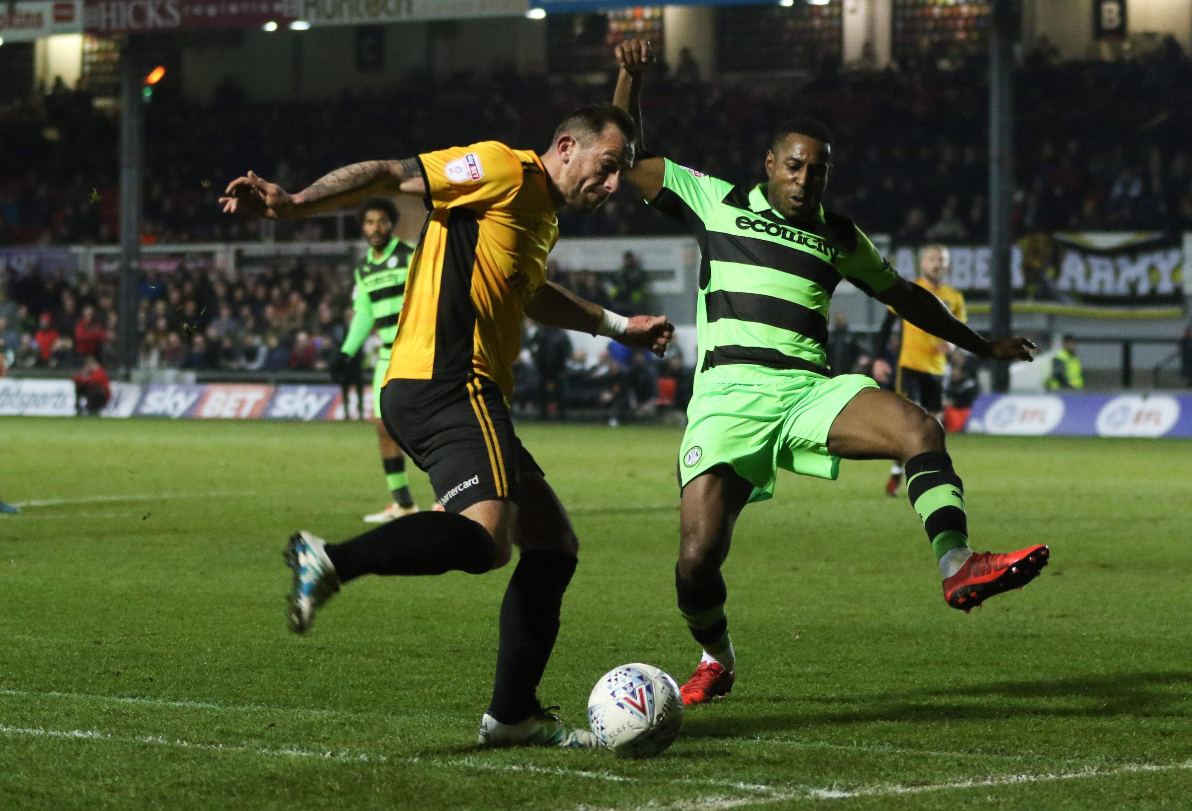 STAR MAN: Newport County striker Paul Hayes claimed a hat-trick against Forest Green Rovers. Picture: Huw Evans Agency