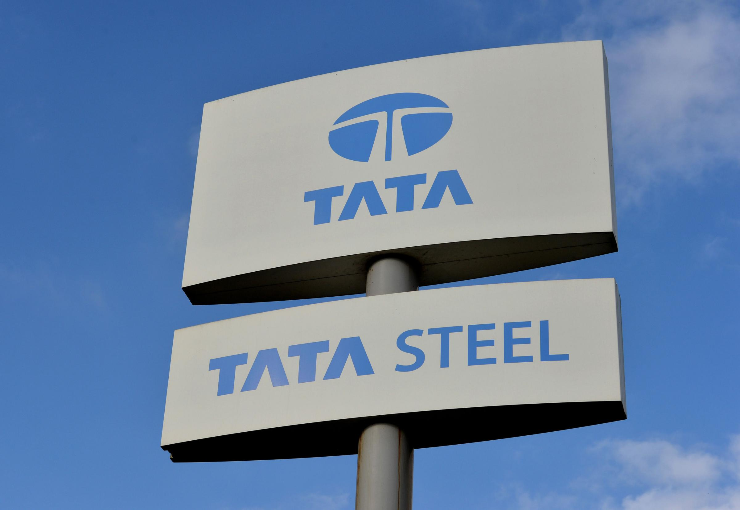 File photo dated 20/10/15 of a Tata Steel sign, as the company and German firm Thyssenkrupp have taken the first step towards a merger deal by signing a memorandum of understanding. PRESS ASSOCIATION Photo. Issue date: Wednesday July 24, 2013. The compani
