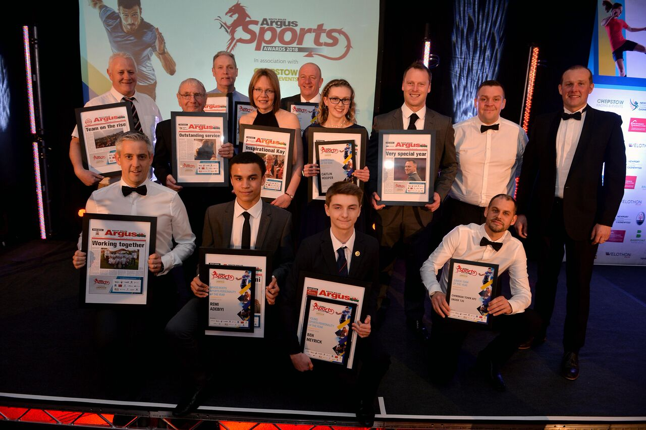 REASONS TO CHEER: Award winners at the Celtic Manor last night. Picture: christinsleyphotography.co.uk
