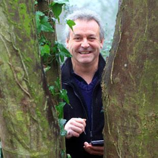 Rob Richards who is  mapping trees across Torfaen